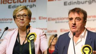 Joanna Cherry and Tommy Sheppard
