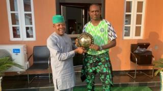 Emeka Ihedioha and Kanu Nwankwo