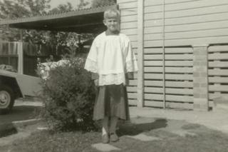 Peter Gogarty as an altar boy in the 1970s