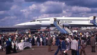 Crowds clamoured to see Concorde at the 1976 airshow
