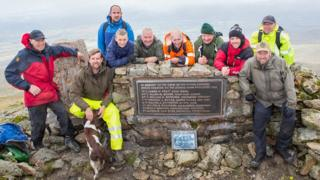 American airmen killed in Snowdonia mountain crash honoured