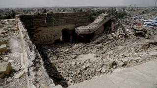 Santuário de Nabi Yunus destruído