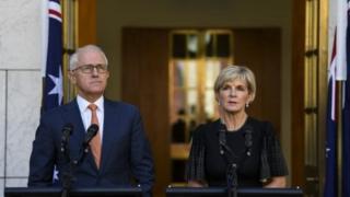 Malcolm Turnbull (kushoto) amesema matukio haya ni kutokana na tabia zisizokubalika za Urusi