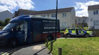 Police were called to Rhydybont in Aberystwyth