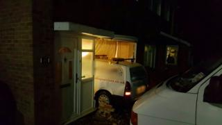 The van crashed into the house in Sovereign Drive