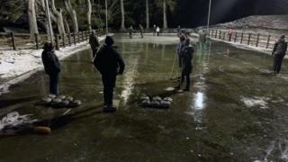 Curling at Glenesk