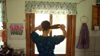 Mujer menonita