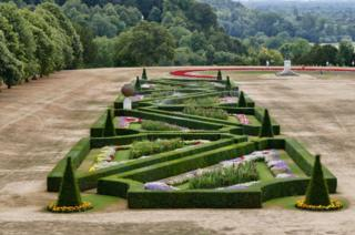 Cliveden House's famous lawns are parched and arid.