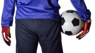Footballer from behind