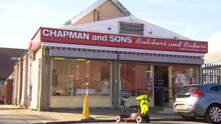 Chapman and Sons butchers, Blackhall Colliery