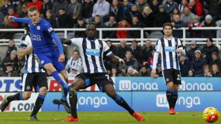 Vardy scores against Newcastle