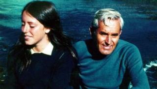Michelle e o pai, Alberto, em passeio