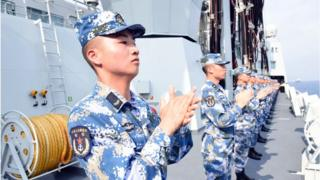 Hạm đội Hải quân Trung Quốc trên Biển Đông ngày 12/4/2018