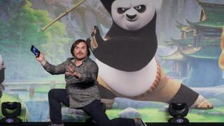 Actor Jack Black attends the press conference for Kung Fu Panda 3 on 20 January, 2016 in Seoul, South Korea