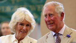 Prince of Charles and Duchess of Cornwall