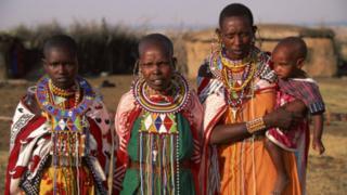 Women and baby in Kenya