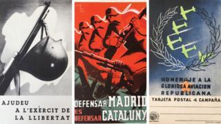 Postcard from Spanish Civil War