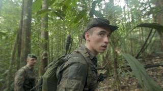 31-year-old Sergeant Vadim leads a recce of the forest looking for illegal gold miners