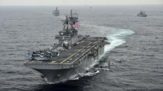 USS Boxer amphibious assault ship. File photograph