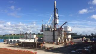 Cuadrilla's drill rig in Little Plumpton