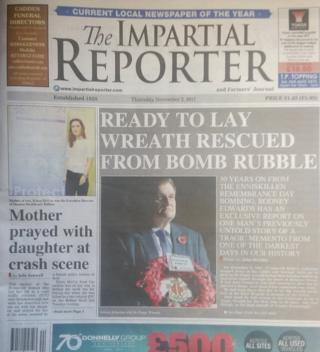 Impartial Reporter front page 03/11/17