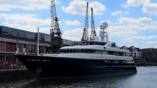 Archimedes super yacht in Bristol