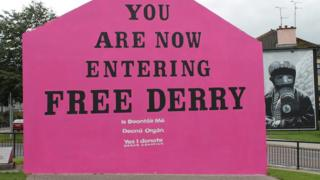Free Derry Corner painted pink for Organ Donation Week.