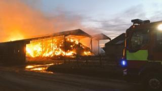 Shottisham barn fire