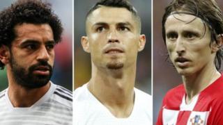 Salah, Ronaldo, Modric