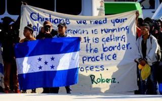 Manifestação de migrantes