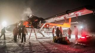 A plane arrives at a South Pole research station to deal with a medical emergency