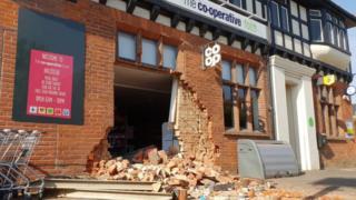 Co-op shop in Halstead after ram-raid