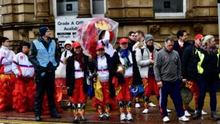 The Chinese lion team in Birmingham