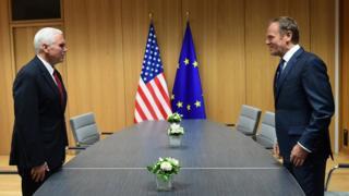 ABD Başkan Yardımcısı Mike Pence ve Avrupa Konseyi Başkanı Donald Tusk