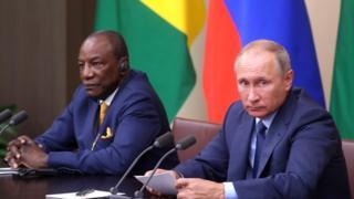 Владимир Путин и Альфа Конде