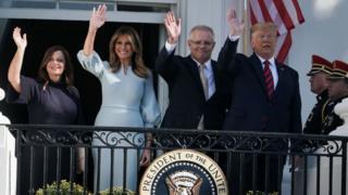 Australia PM Scott Morrison meets Trump for White House state dinner