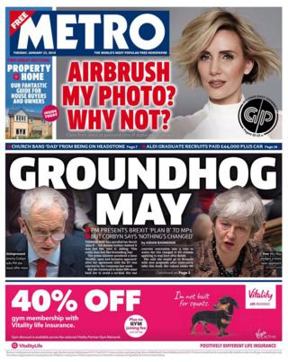 The Papers:  Groundhog May  and resignation threats