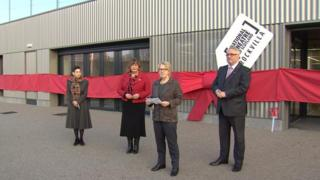 Culture Secretary Fiona Hyslop and Glasgow City Council leader Frank McAveety opened the Rockvilla building