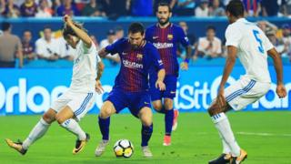 Barcelona v Real Madrid in the 2017 International Champions Cup final