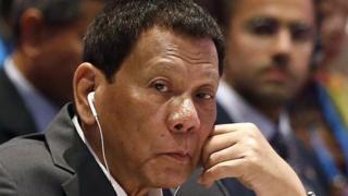 Rodrigo Duterte at the Asean summit in Thailand earlier this month