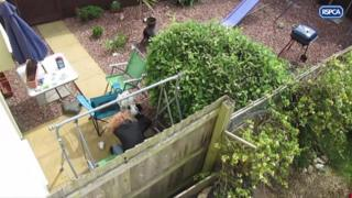 Joanne Hosking slamming Edie into the patio