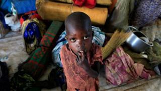 طفل نازح من الصراع في جنوب السودان
