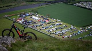Scene of festival