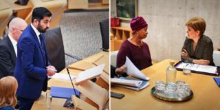 Scottish Justice Secretary Humza Yousaf announces a public inquiry into Sheku Bayoh's case - and Aminata Bayoh, Sheku's mother, meets First Minister Nicola Sturgeon, 12 November 2019