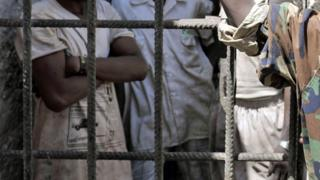 Prisoners at Mogadishu Central Prison in Somalia - archive shot