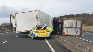 A1 crash at Haddington