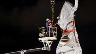 Christopher Columbus statue is removed