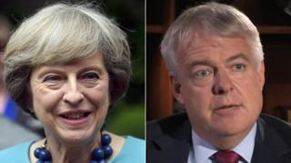 Theresa May a Carwyn Jones
