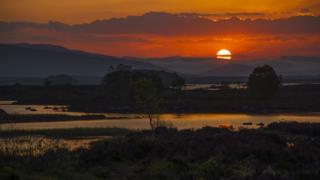 Sunrise over Loch Ba