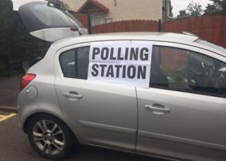 Vauxhall Corsa polling station